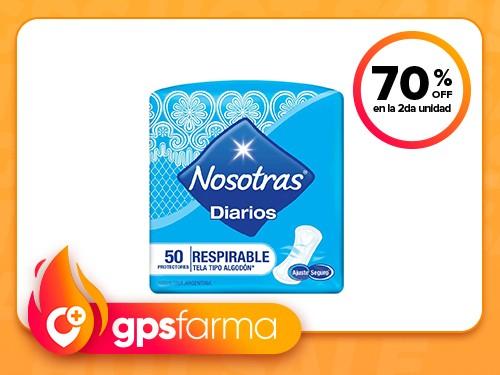 Protectores Diarios Nosotras Respirable x 50 u