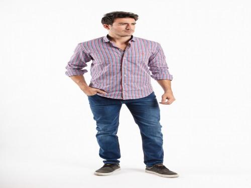 Camisa Entallada + Pantalón de Jean 01