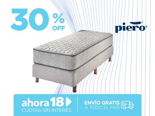 Sommier y Colchón Piero Sonno 190x100 Resortes 1 1/2 Plazas