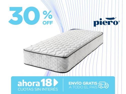 Colchón Piero Sonno 190x80 Resortes 1 Plaza