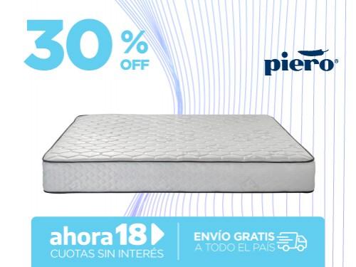 Colchón Piero Sonno 190x140 Resortes 2 Plazas