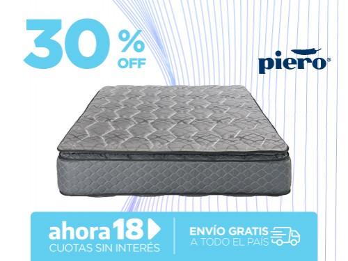 Colchón Piero Regno Pillow 190x140 Resortes 2 Plazas
