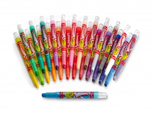 Kit Crayones Twistables Mini Retráctiles x 65 piezas