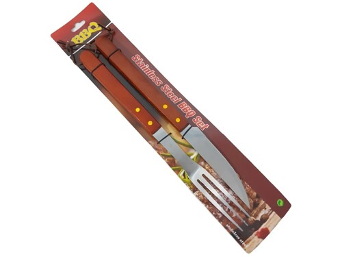 Set De Asado Kit Parrilla 2 Piezas Acero Inox - Hot Sale