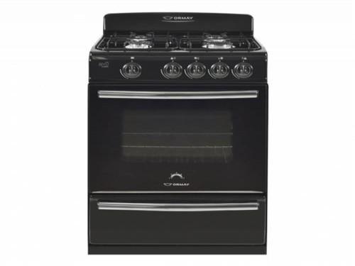 Cocina 57cm Biyu Negra 4 Quemadores Valvula de Seguridad ORMAY 012032
