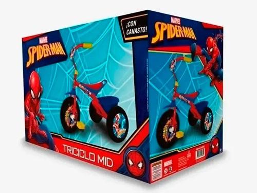 Triciclo Mid Spiderman Con Canasto 306001