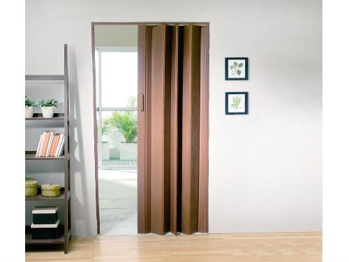 Puerta Plegable PVC Cedro 6Mm 80x200