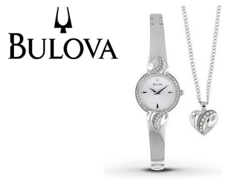 Reloj Mujer Bulova Crystal Pendant and Bangl