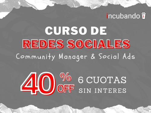 Curso Online de REDES SOCIALES ** 40% OFF + 6 cuotas s/interés