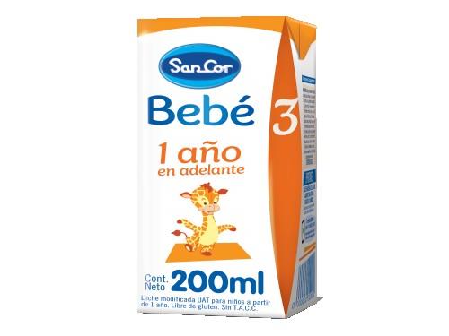 Leche Infantil Etapa 3 Líquida 200ml x 90 unidades SanCor Bebé