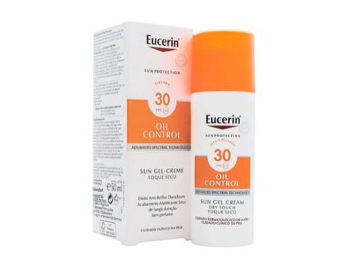 Eucerin Solar Gel Crema Oil Control Toque Seco Fps 30 X50 Ml
