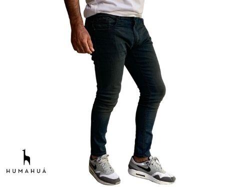 Pantalon Jean Elastizado Azul Oxido Humahua Calce Real