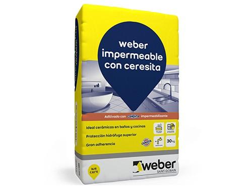 Adhesivo p/ cerámica impermeable 30 kg Weber