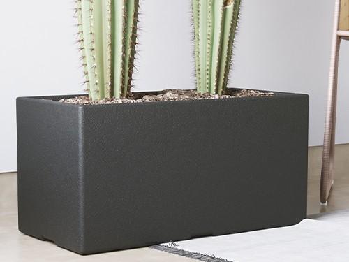 Maceta Plástico Rotomoldeado Grande Jardinera 60x30x30 Marca Amalfi
