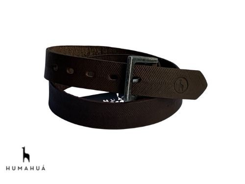 Cinturon de Hombre Cuero Espiga Marron