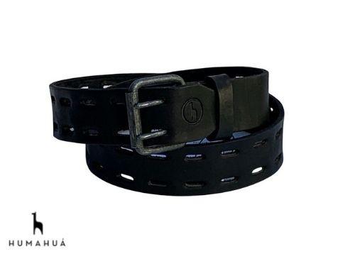 Cinturon Hombre Cuero Humahua Troquel Negro