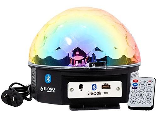 Bola Luz Led RGB Audiorítmica Media Esfera Luminosidad Efectos Luz