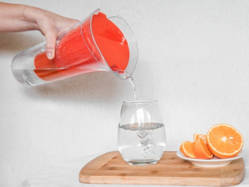 Purificador de Agua Sobremesa Aqua Negro  + Jarra Purificadora Naranja
