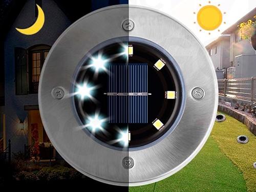 Spot Luz Panel Solar para Jardín Enterrable Exterior Estaca