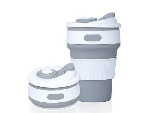 Vaso Taza Térmica Plegable de Silicona Reutilizable