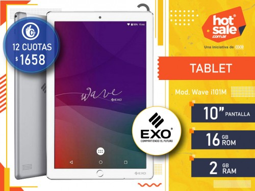 """Tablet Wave i101M Pant 10"""", ROM: 16 GB, RAM: 2GB Android Exo"""