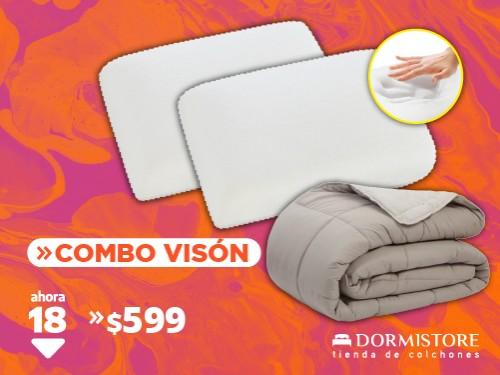 Acolchado Vison súper abrigado Palette + 2 almohadas viscoelasticas