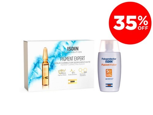 Isdin Foto Fusion Water x 50 ml + Isdinceutics Pigment Expert x 30 Amp
