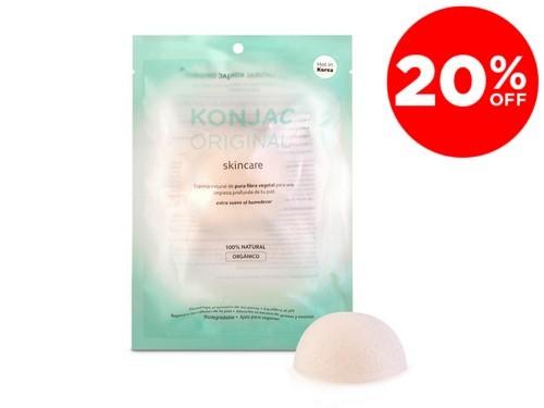 Konjac Esponja Facial Blanca Original 100% Natural Y Organico