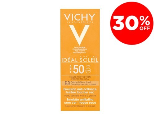 Ideal Soleil BB toque seco color FPS 50 Vichy x 50 ml