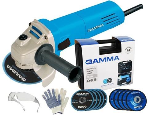 Amoladora Angular Gamma 750w 115mm Maletin Discos Regalos Gtia