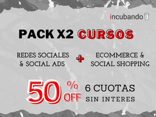 Curso de ECOMMERCE + REDES SOCIALES ** 50% OFF + 6 cuotas s/interés