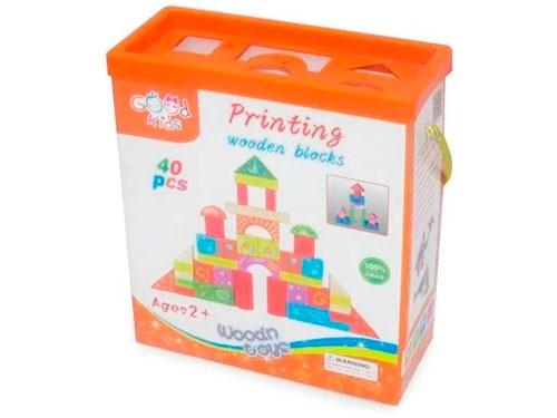 Set De Bloques De Madera En Caja 40 Piezas 8037-9906 50570