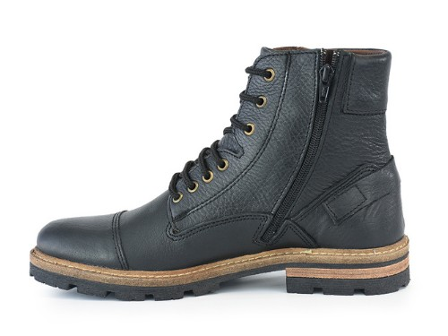 Borcego Cuero Hombre Briganti Zapato Negro Bota  Harrys