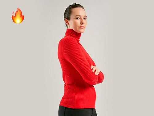 Sweater Polera Manga Larga Rojo