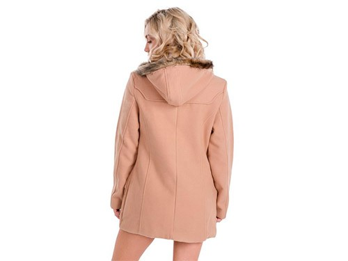 Montgomery de paño clásico con capucha Suki- Kout Mujer