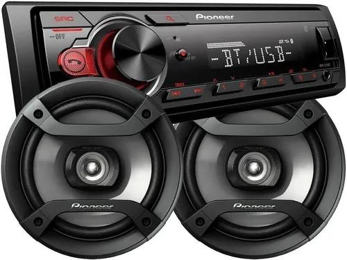 Combo Pioneer Mvh S 215 Bluetooth Usb + Parlantes 6.5 6 1634