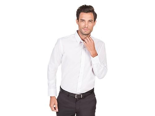 Camisa de Vestir Calce Clásico Cuello Pico