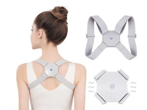 Corrector de postura inteligente faja con sensor y vibracion