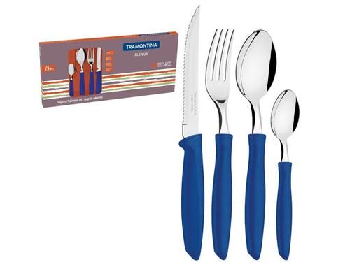 Set Cubiertos Plenus Tramontina Juego X24 Colores Original