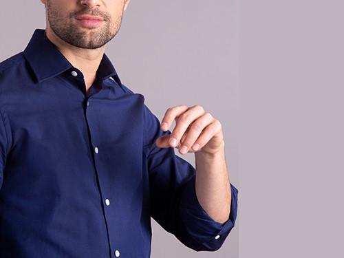 Camisa de Vestir Lisa Manga Larga