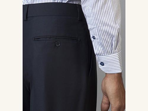 Pantalón de Vestir Liso Regular Fit