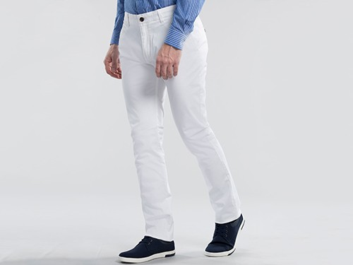 Pantalón Elastizado de Gabardina Slim Fit