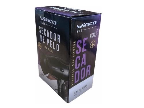 Secador De Pelo Plegable Mini Chico Viaje 2 Niveles 1200w Winco W191