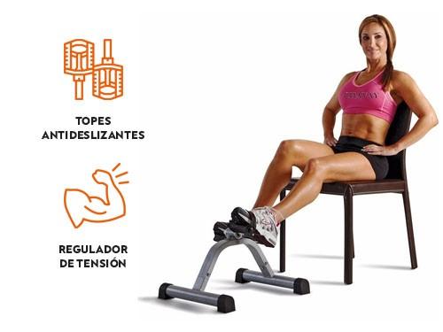 Pedalera con regulador de tensión para ejercicio