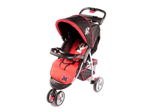 Coche Jogger de Bebé con Huevito Disney Rojo y Negro