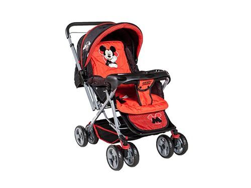 Coche Cuna de Bebé Rebatible Disney Rojo