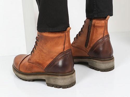 Borcego Hombre Cuero Briganti Zapato Bota Suela Niza