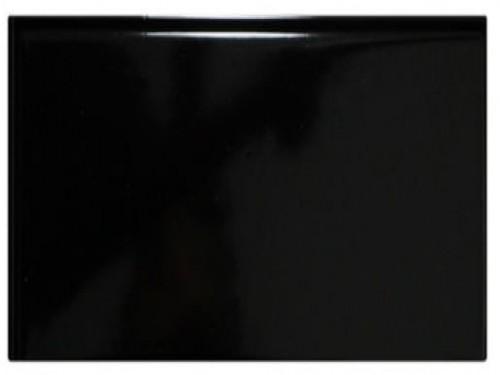 Revestimiento Liso Negro Brillante 7,5x15 Cm.