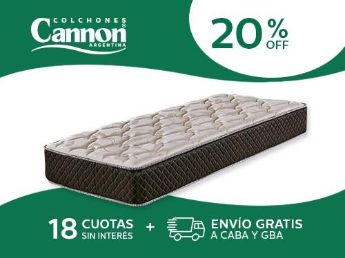 Colchón Cannon Exclusive 190x080 Espuma 1 Plaza