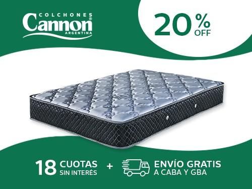Colchón Cannon Doral 190X140 Resortes 2 Plazas